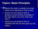 topics basic principles