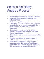 steps in feasibility analysis process
