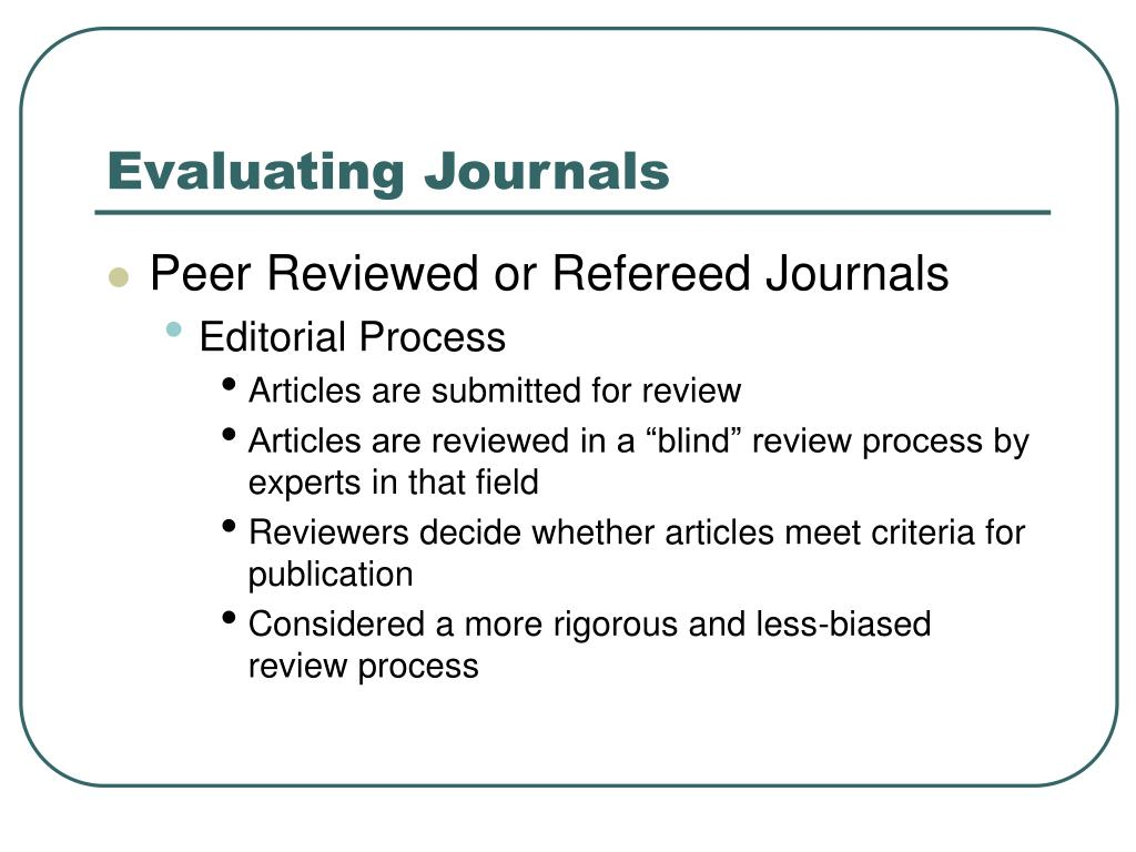 evaluation of journal article heijes c