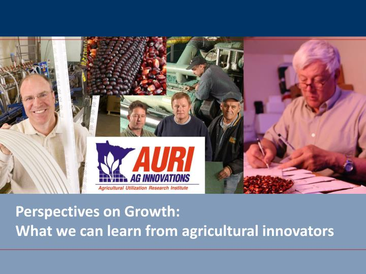 perspectives on growth what we can learn from agricultural innovators n.