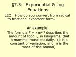 7 5 exponential log equations