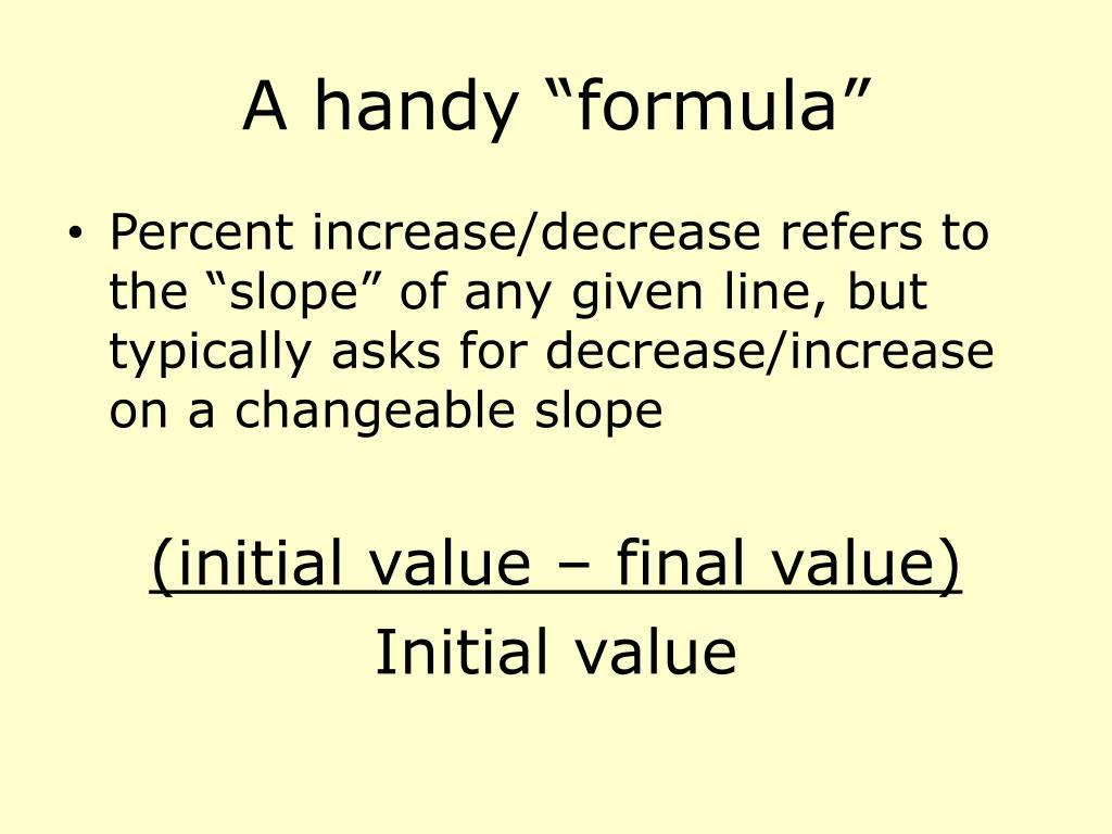 "A handy ""formula"""