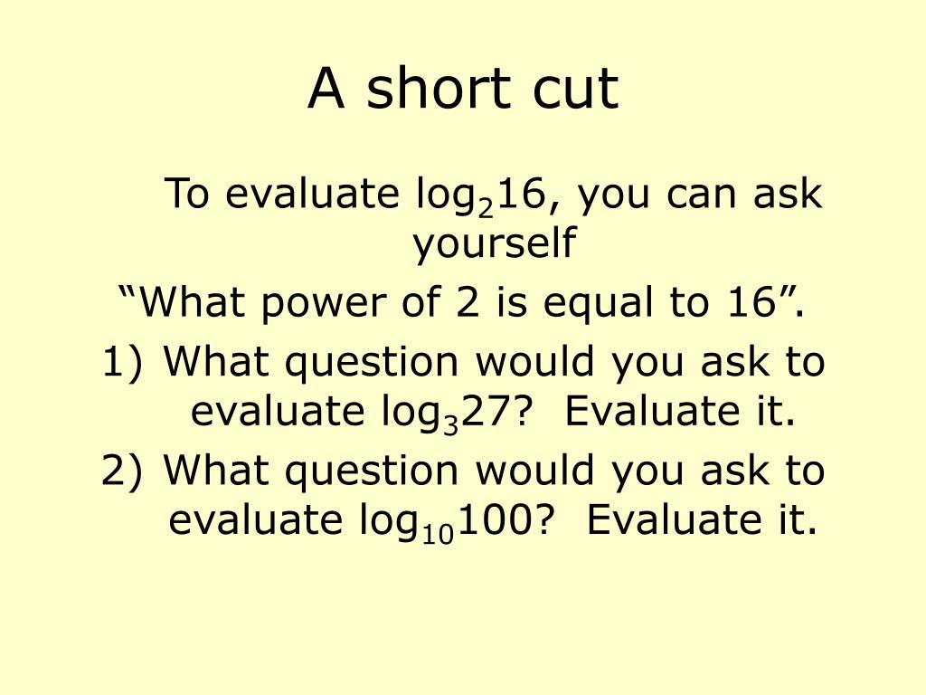 A short cut