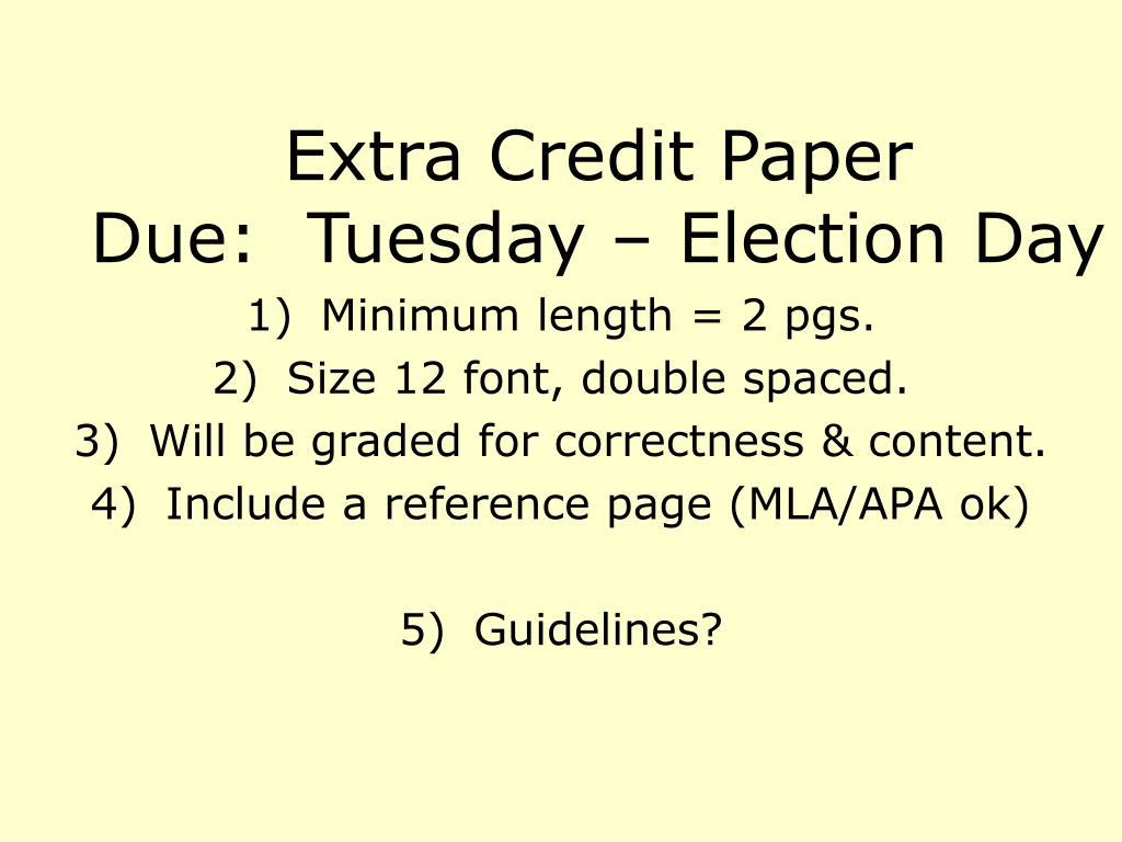 Extra Credit Paper