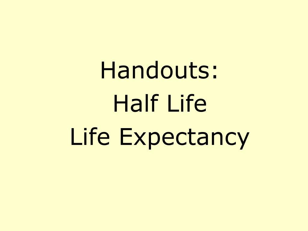 Handouts: