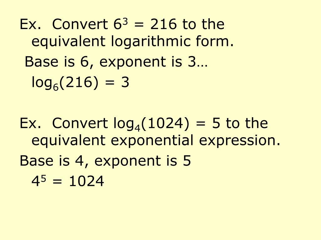 Ex.  Convert 6