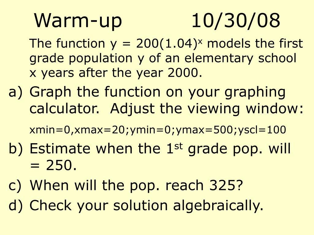 Warm-up10/30/08