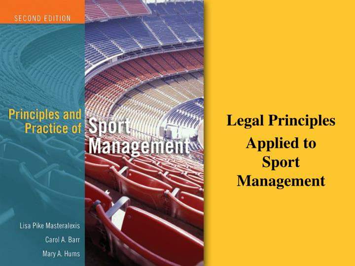 legal principles applied to sport management n.