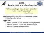 quail question asking to inform learning
