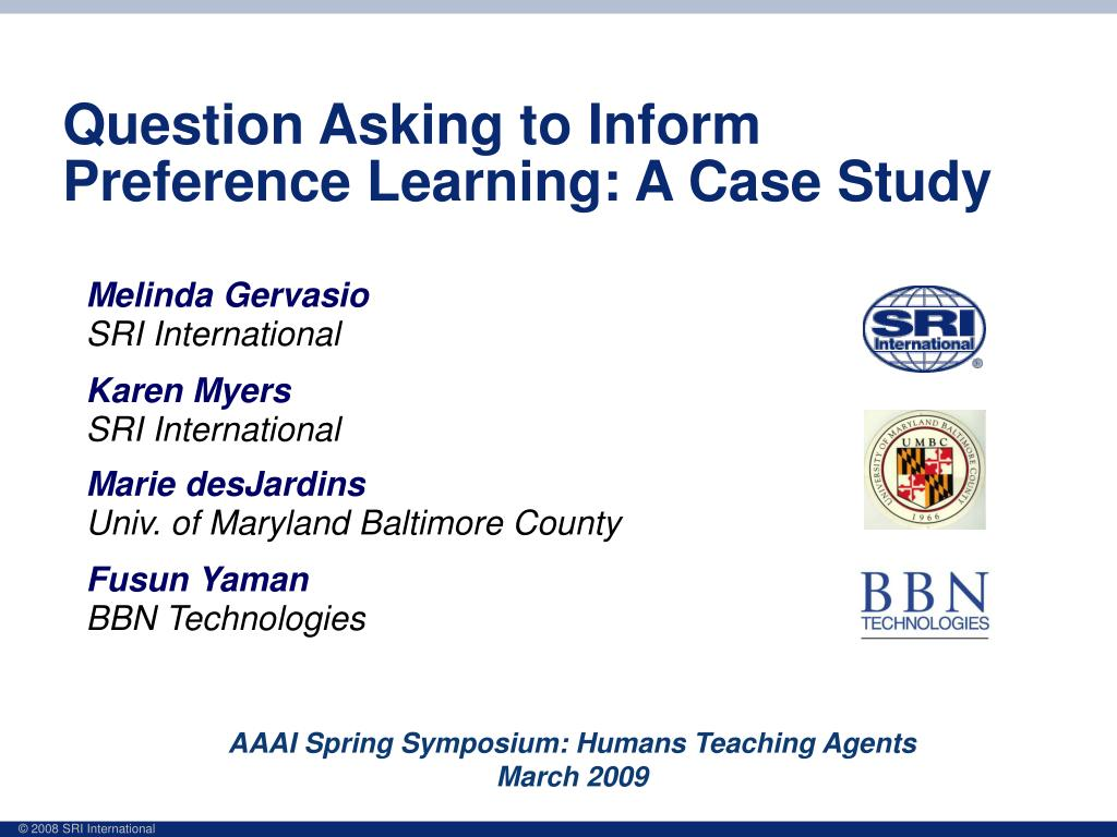 question asking to inform preference learning a case study l.