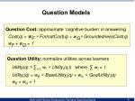 question models