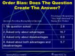 order bias does the question create the answer