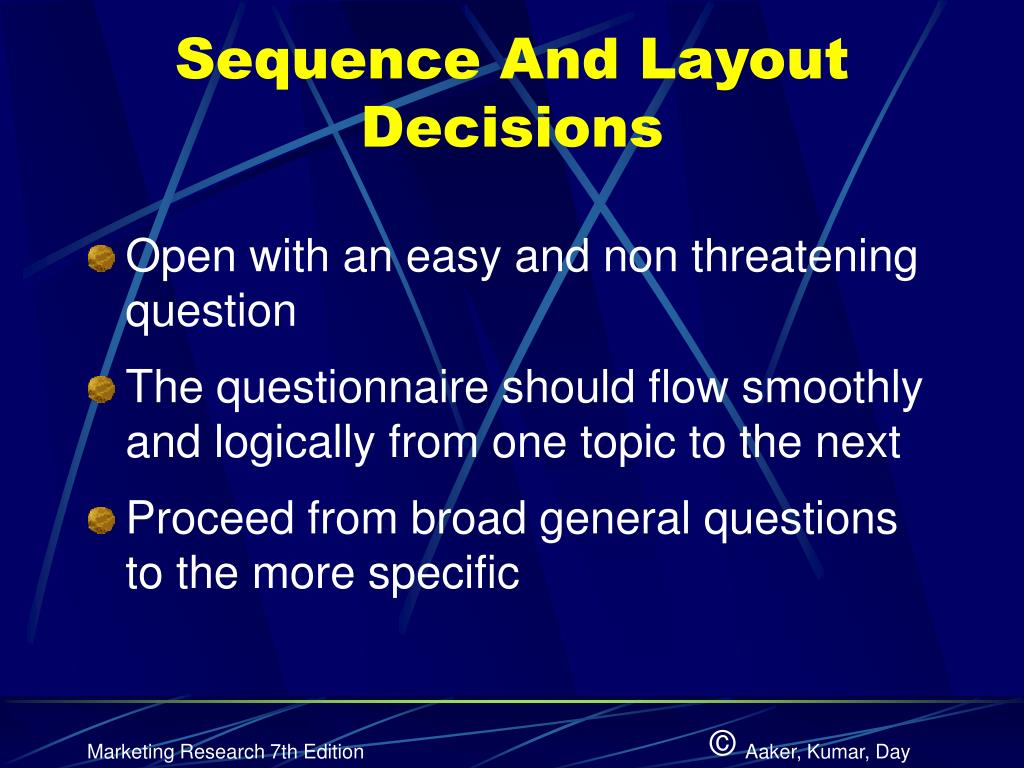 Sequence And Layout Decisions