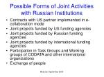 possible forms of joint activities with russian institutions