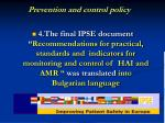 p revention and control policy