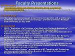 faculty presentations23