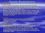 faculty presentations26