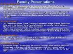 faculty presentations27