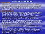 faculty presentations28