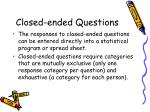 closed ended questions