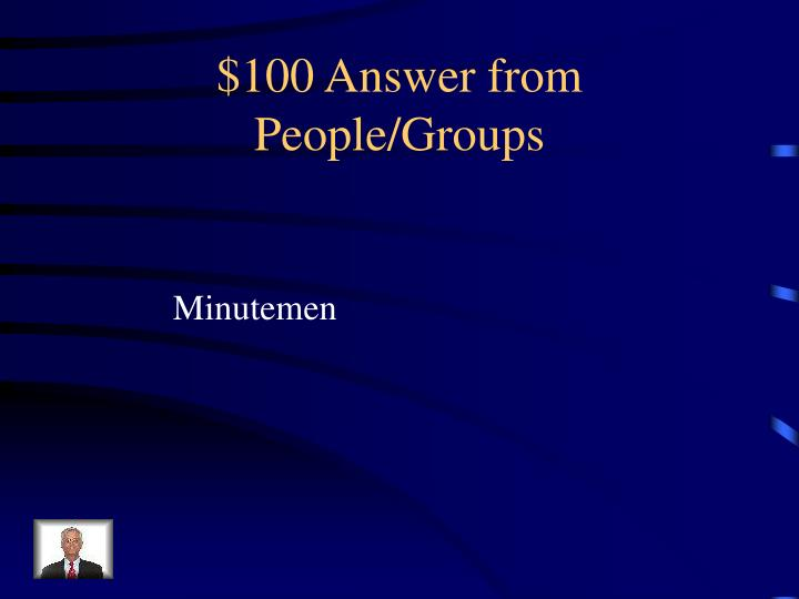 100 answer from people groups