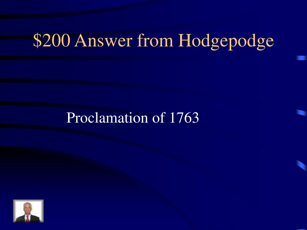 $200 Answer from Hodgepodge