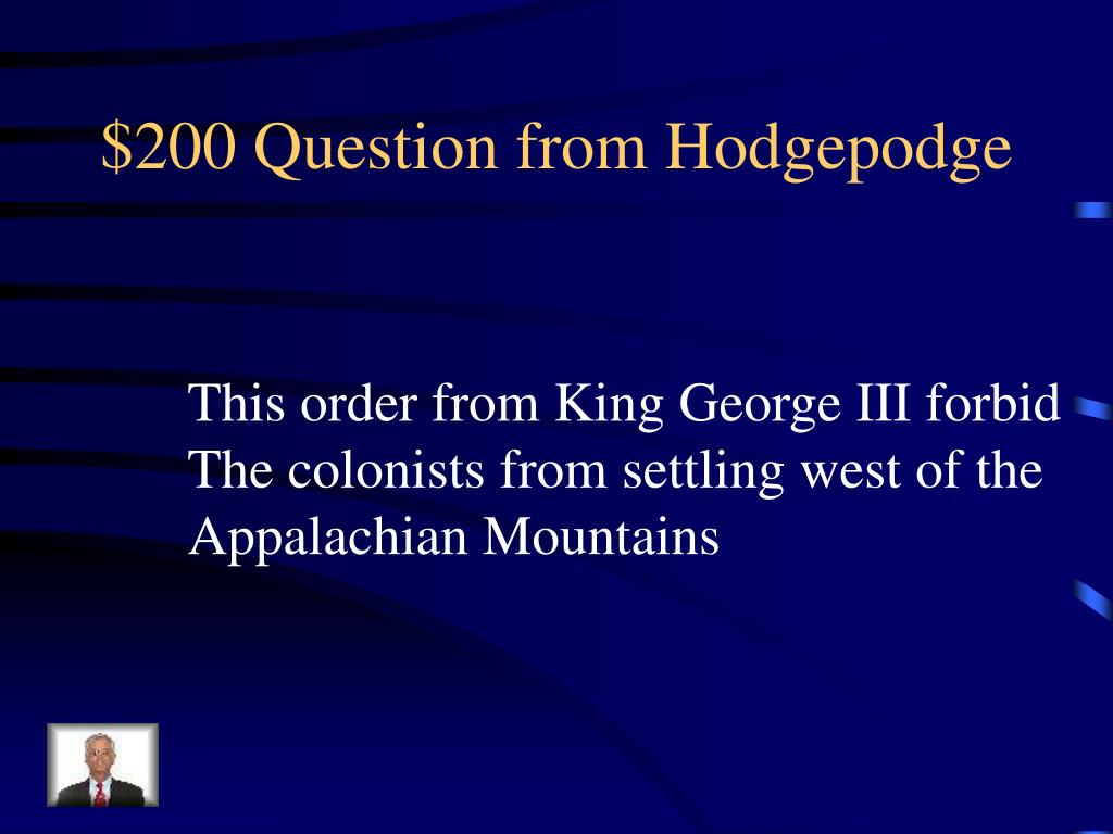 $200 Question from Hodgepodge