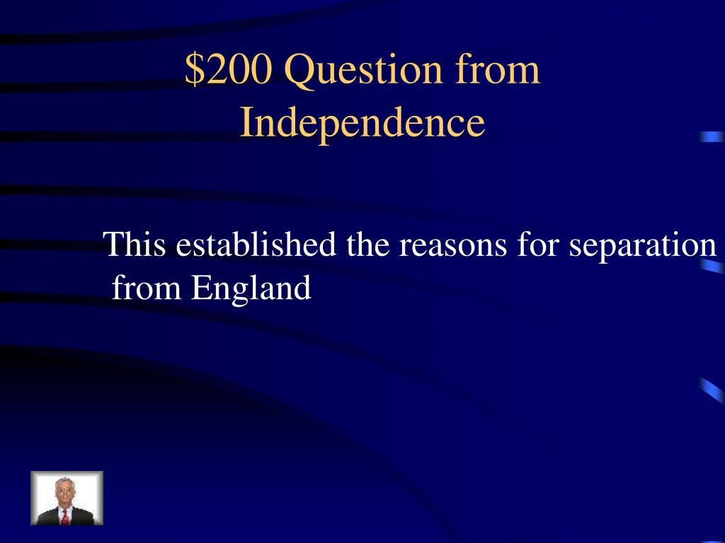 $200 Question from Independence