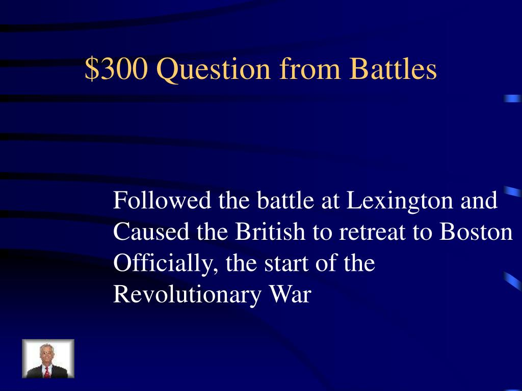 $300 Question from Battles