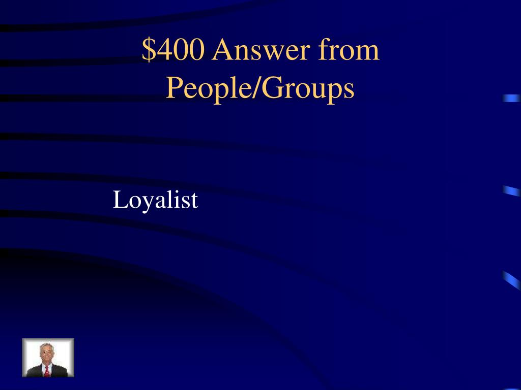$400 Answer from People/Groups