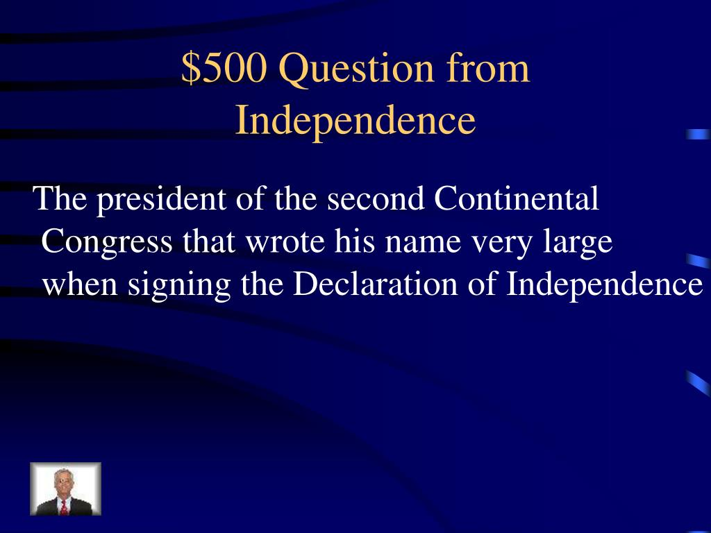 $500 Question from Independence