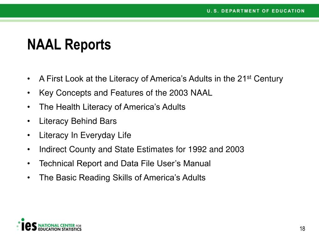 NAAL Reports