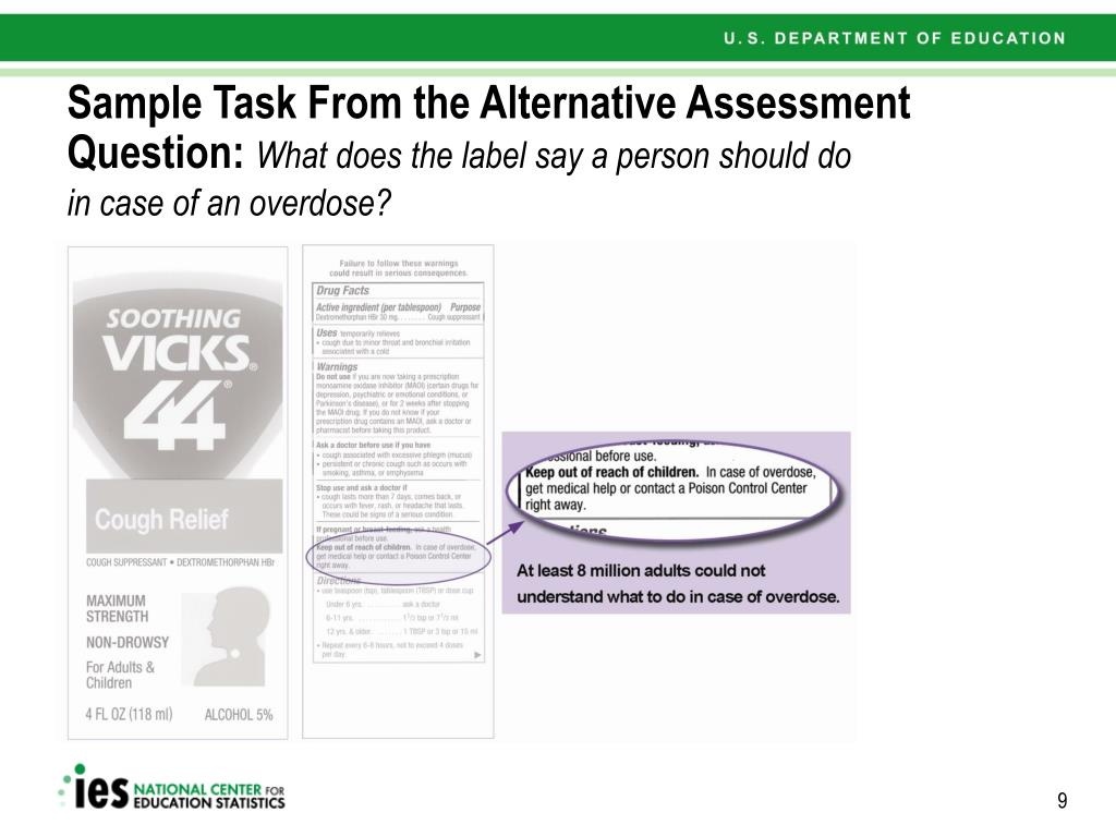 Sample Task From the Alternative Assessment Question:
