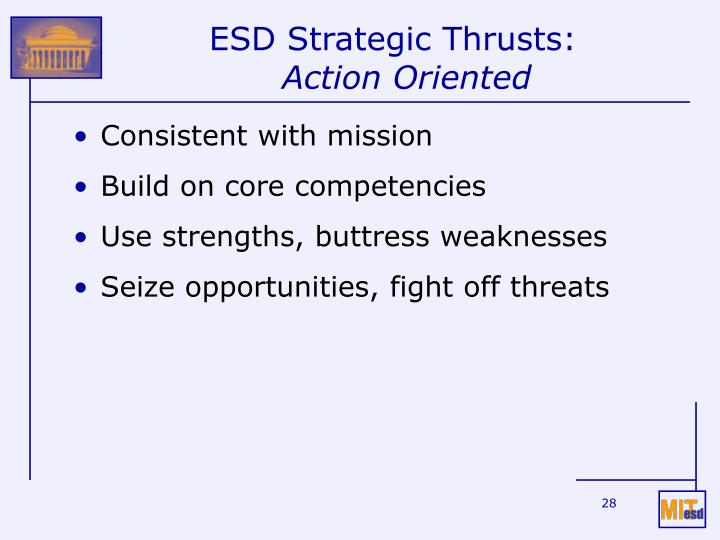 ESD Strategic Thrusts: