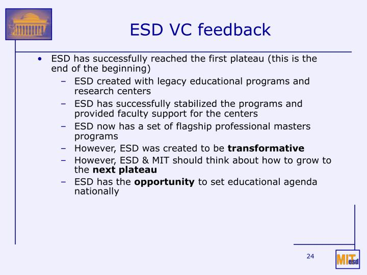 ESD VC feedback