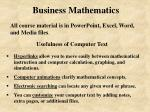 business mathematics8