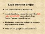 loan workout project