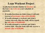 loan workout project11