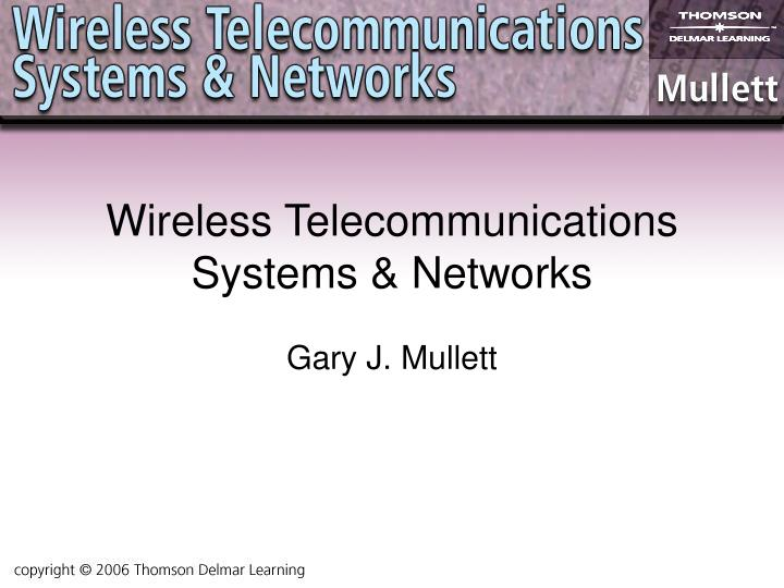 wireless telecommunications systems networks n.