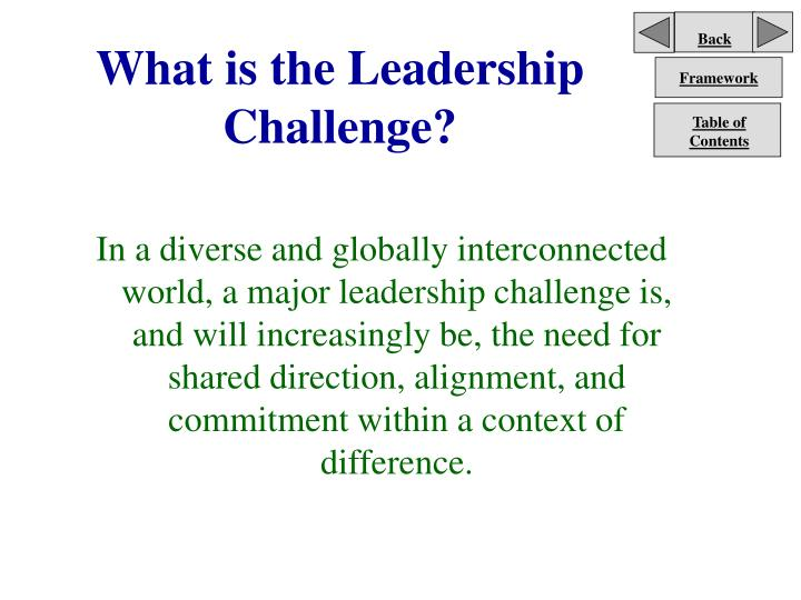What is the leadership challenge