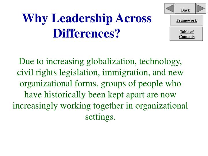 Why leadership across differences