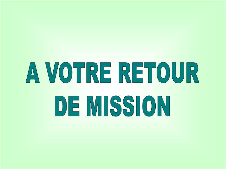 Guide des missions : ACP