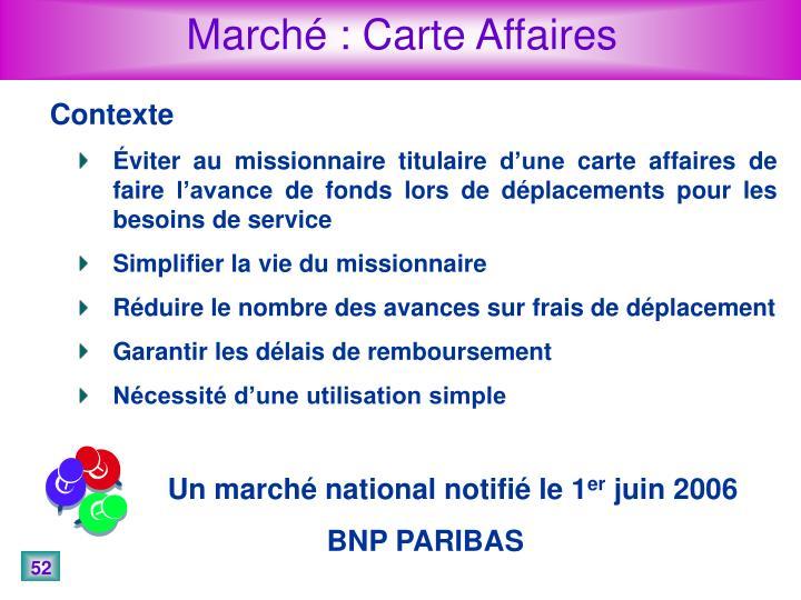 Marché : Carte Affaires