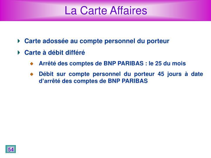La Carte Affaires