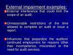 external impairment examples