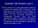 question 56 answer cont