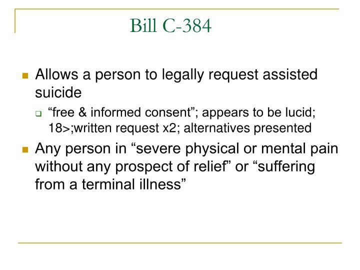 Bill C-384