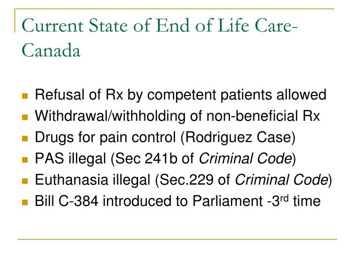 Current State of End of Life Care-Canada