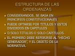 estructura de las ordenanzas