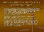 reglamentos autonomos e independientes